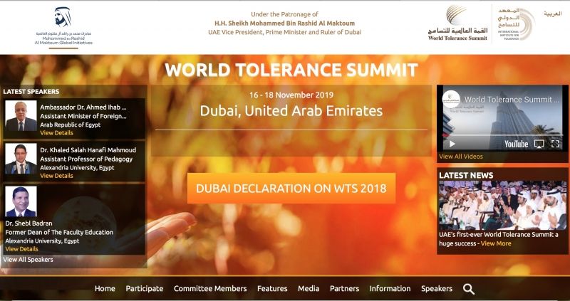 World Tolerance Summit 2019