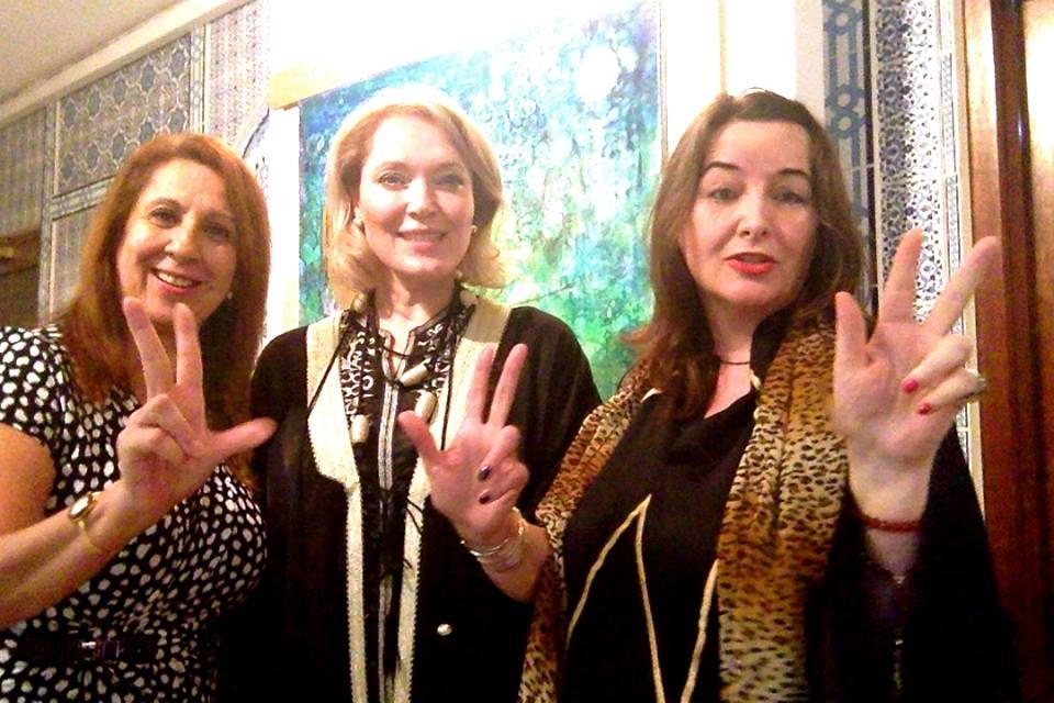 Global Tolerance Faces Madame Sabine Balve with Zari Jafri, Zari Kaarina from Pakistan