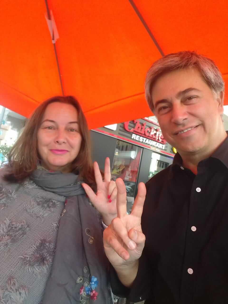 Serbian Professor Slaviša Rmandić from Cambridge University with Madame Sabine Balve, Global Tolerance Faces 2019